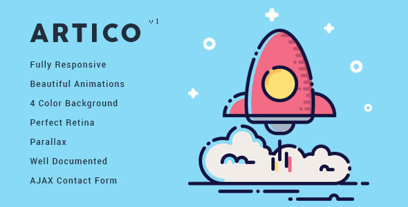 Artico – Responsive Coming Soon Template