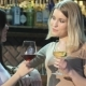 Two Girls Drinking Wine At The Bar - VideoHive Item for Sale