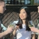 Man Drinks Beverages With Two Girls At The Bar - VideoHive Item for Sale