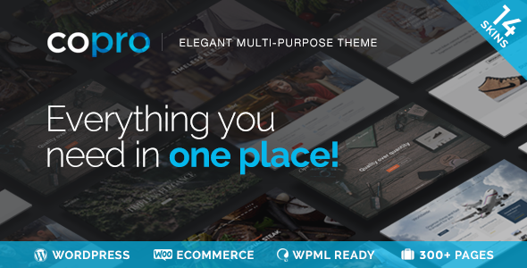 CoPro - Responsive Multipurpose WordPress Theme - Business Corporate