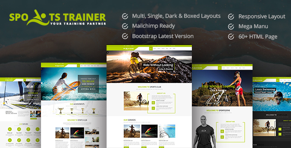 SportsTrainer- Sports, Health, Gym & Fitness Personal Trainer HTML5 Theme