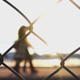 Seaside and People Behind the Metal Fence 4 - VideoHive Item for Sale