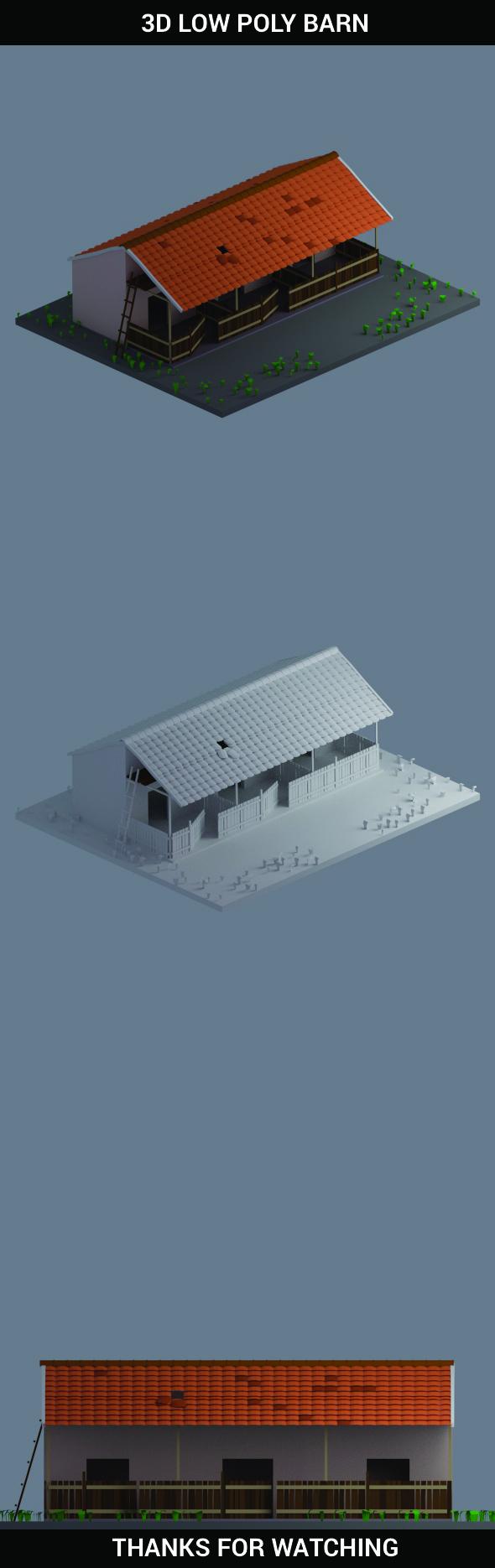 Barn  - 3DOcean Item for Sale