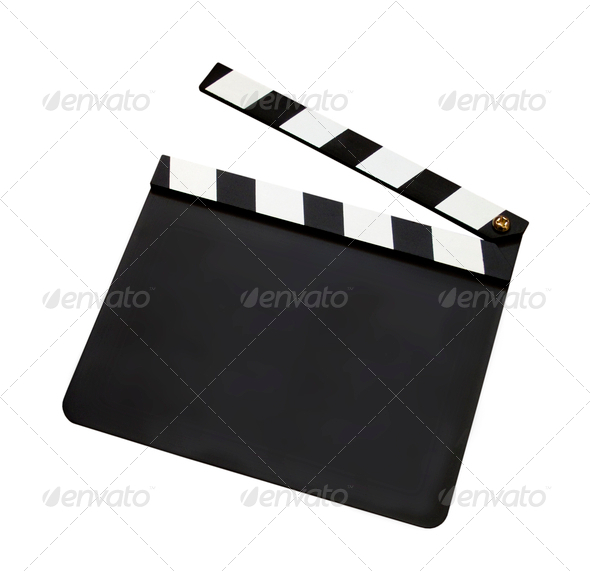 Film clap board - Stock Photo - Images