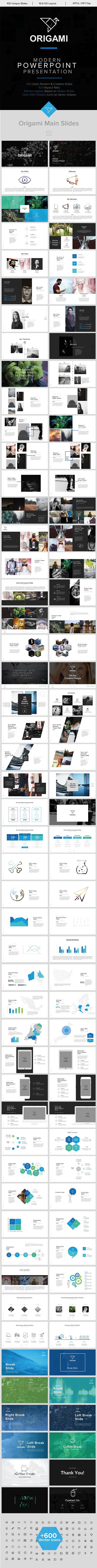 Origami minimal powerpoint template by jkhnon graphicriver origami minimal powerpoint template business powerpoint templates toneelgroepblik Image collections