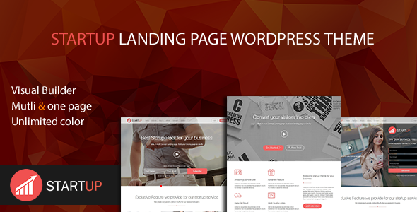 Startup Multi Concept Landing Page WordPress Theme