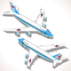 Boeing Aircraft Isometric Airplane - GraphicRiver Item for Sale