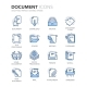 Blue Line Documents Icons - GraphicRiver Item for Sale