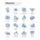 Blue Line Finance Icons - GraphicRiver Item for Sale