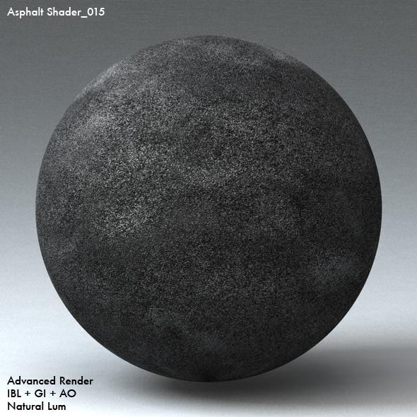 Asphalt Shader_015 - 3DOcean Item for Sale