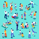 Family Time Set Isometric People - GraphicRiver Item for Sale