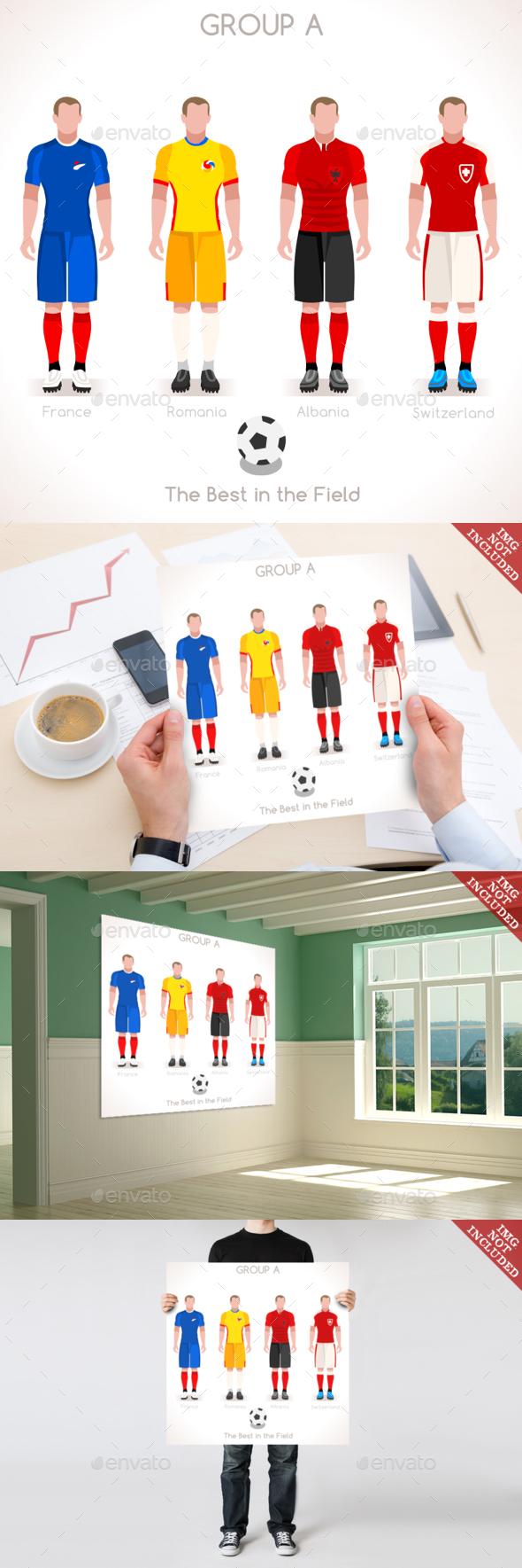 EURO 2016 GROUP A Championship - Sports/Activity Conceptual