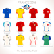 France EURO 2016 Apparel Icons - GraphicRiver Item for Sale