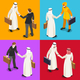Handshake 04 Isometric People - GraphicRiver Item for Sale