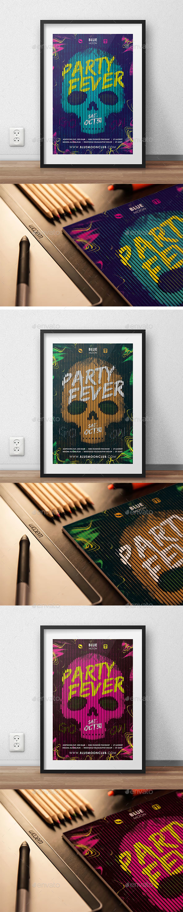Club Poster - Party Fever - Flyers Print Templates