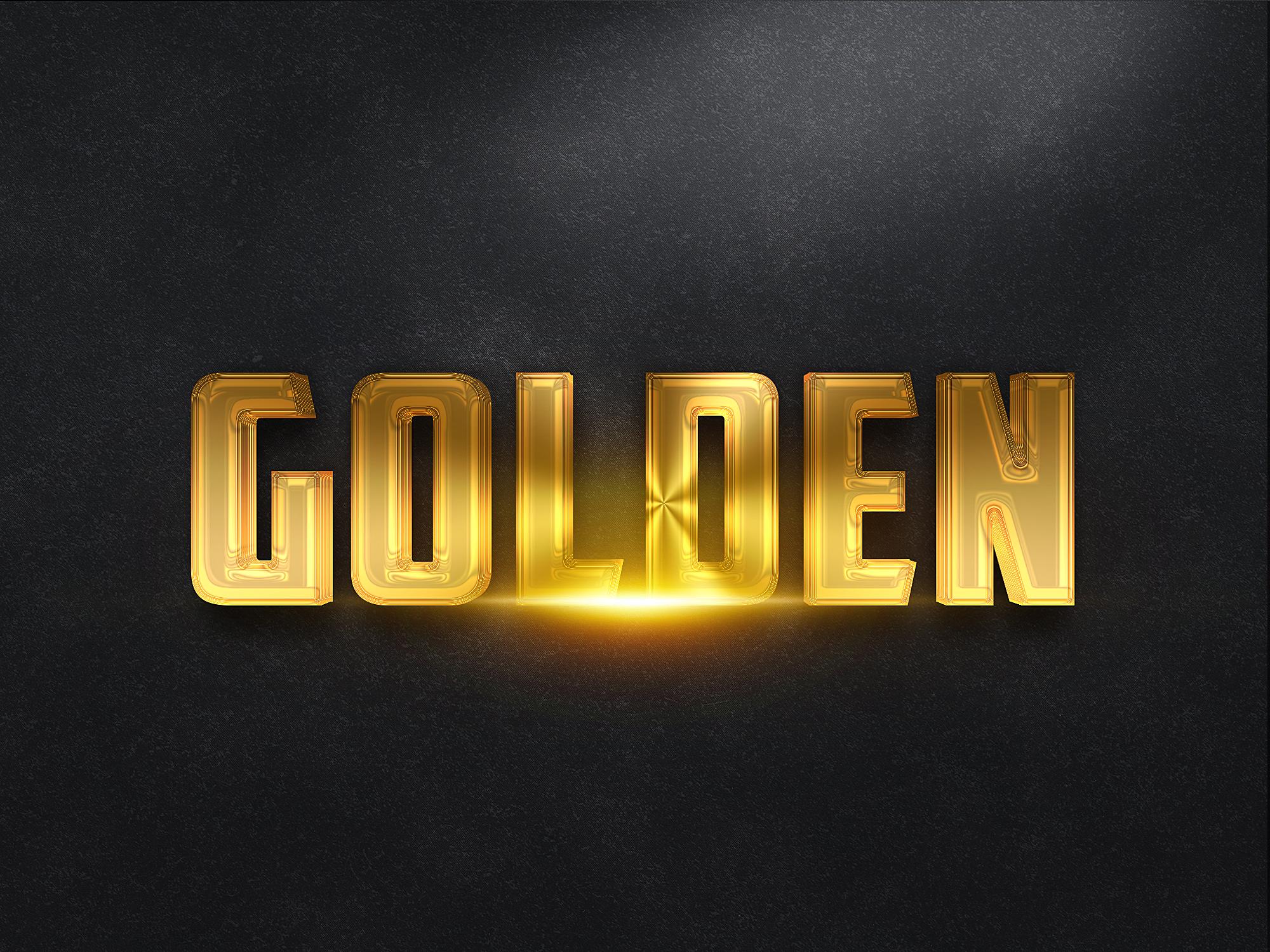 3d gold text effects by klitvogli