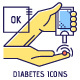 Diabetes Thin Line Icons Set - GraphicRiver Item for Sale