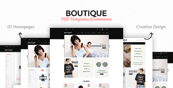 Boutique – Ecommerce PSD Template