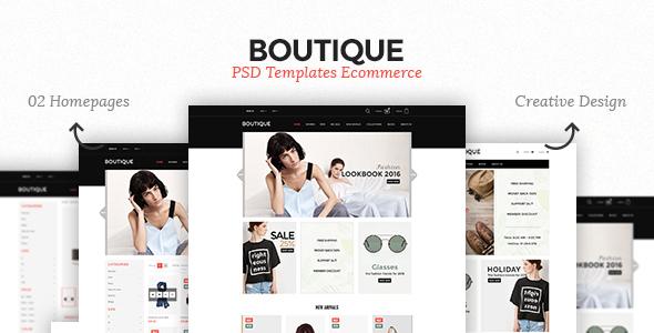Boutique – Ecommerce PSD Template