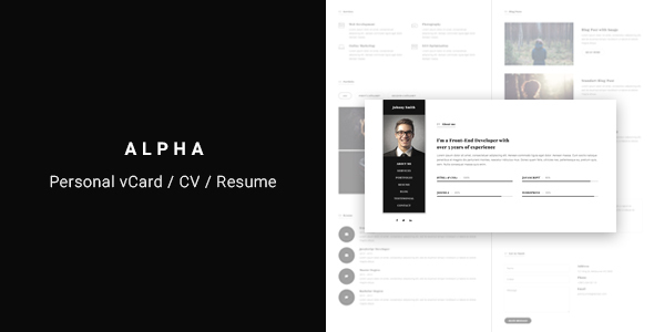 Alpha – vCard/CV/Resume Template