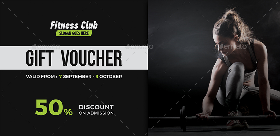 gym gift certificate template - fitness gift voucher by themedevisers graphicriver