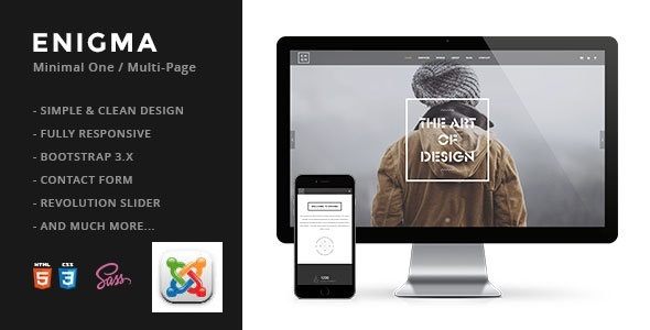 Enigma | Creative Responsive Minimal Joomla Template - Creative Joomla