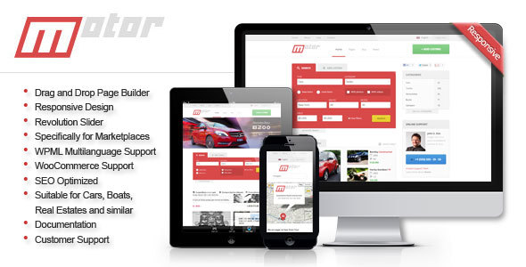 Motor - Vehicle Marketplace Responsive WP Theme - Business Corporate