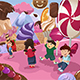 Kids Playing in a Dessert Land - GraphicRiver Item for Sale