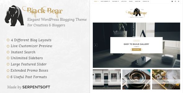 Black Bear – Responsive WordPress Blog Theme