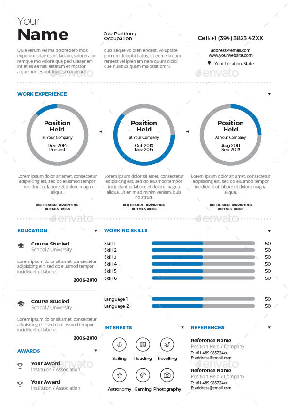 infographic resume vol 3 by paolo6180