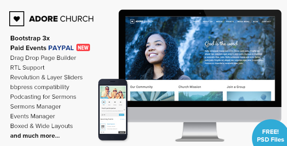 Image of Adore Church - Responsive WordPress Theme