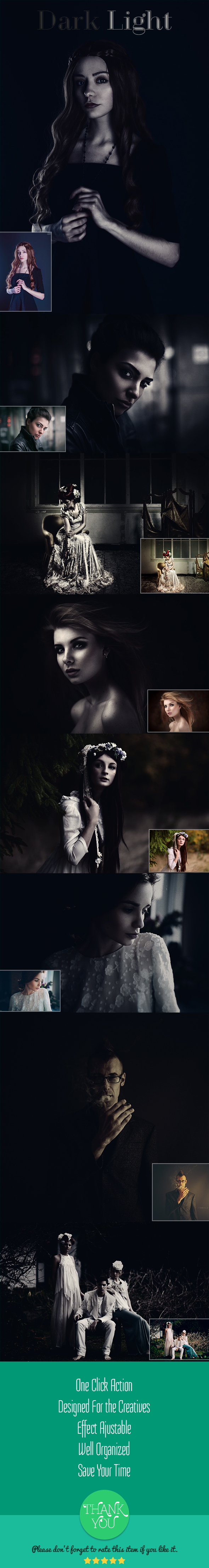 Dark Light - Photo Effects Actions