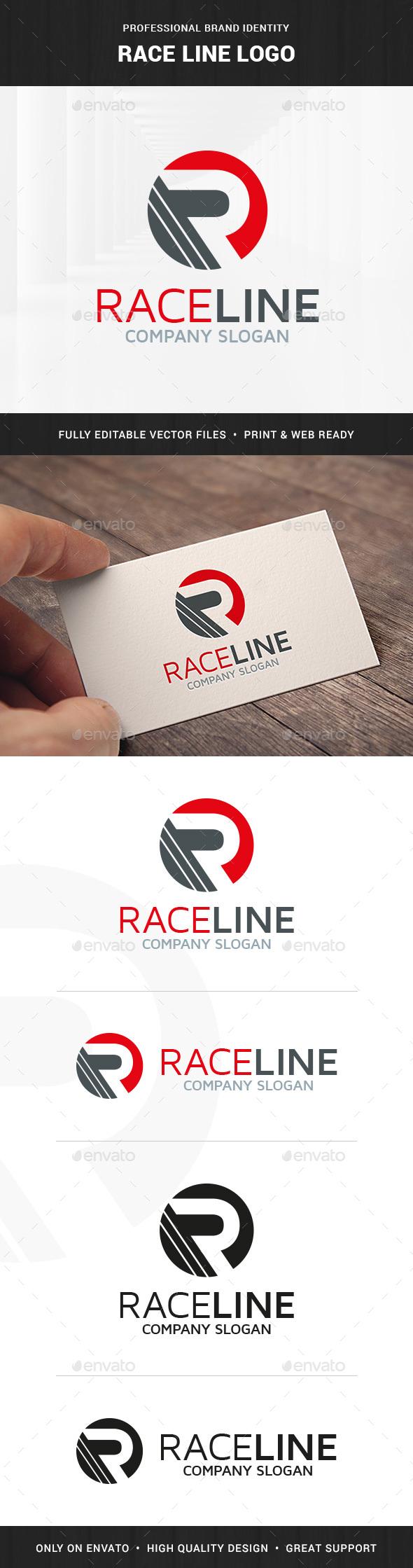 Race Line - Letter R Logo - Letters Logo Templates