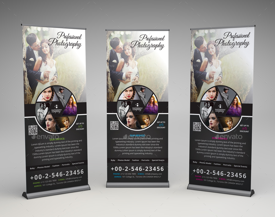 photography rollup banner by arsalanhanif graphicriver