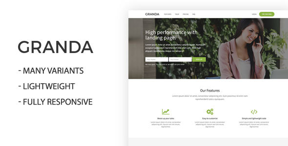 Image of Granda One Page Landing Page