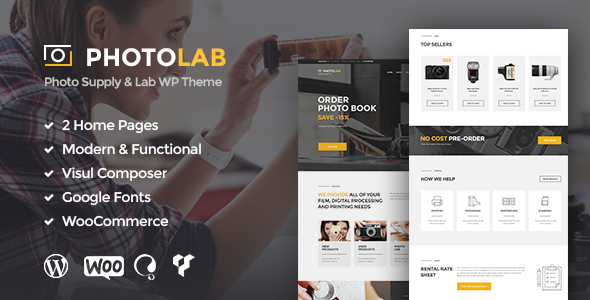 PhotoLab – Photo Supply & Lab WP Theme
