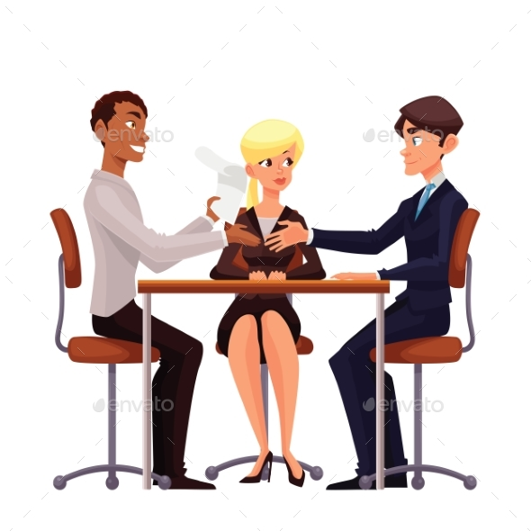 Business Discussion at a Table of Employees - Concepts Business