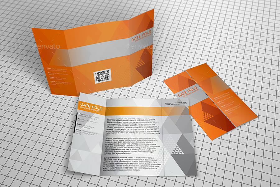 gate fold brochure template - realistic gate fold brochure mockup by kipet graphicriver