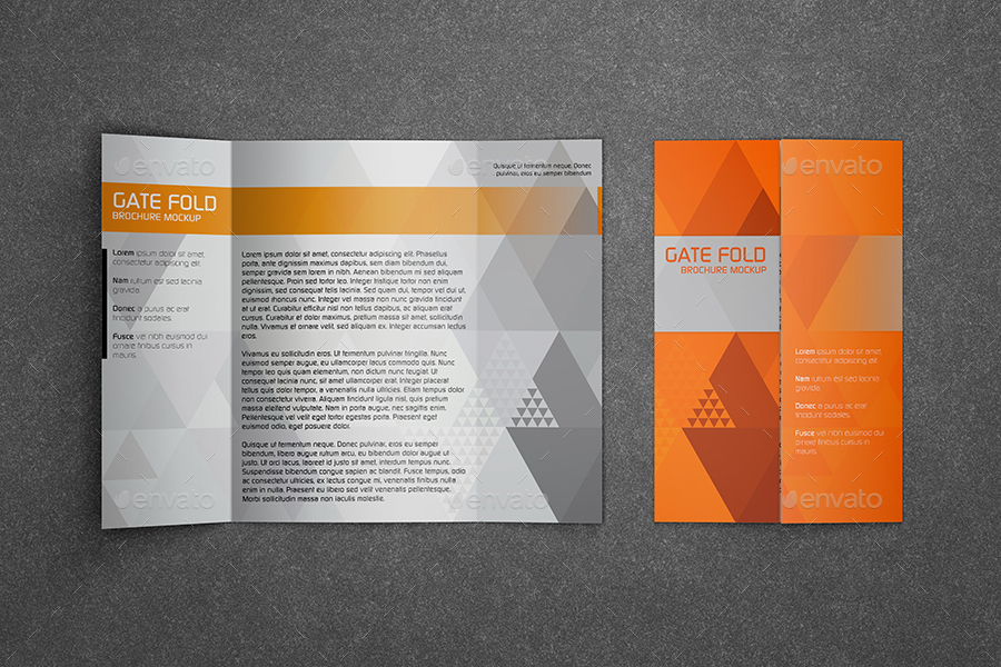 Realistic Gate Fold Brochure Mockup By Kipet | Graphicriver