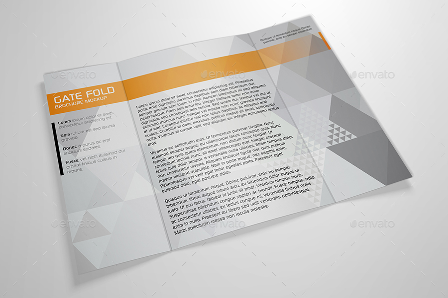 Realistic Gate Fold Brochure Mockup By Kipet  Graphicriver