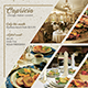 Capricia Restaurant Flyer Template - GraphicRiver Item for Sale