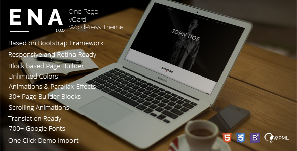 ENA – vCard WordPress Theme