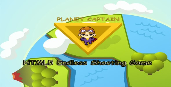 Planet Captain HTML5 Constract 2 Endless Horizontal Shooting Game(With CPAX) - CodeCanyon Item for Sale