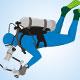 Blue diver - GraphicRiver Item for Sale