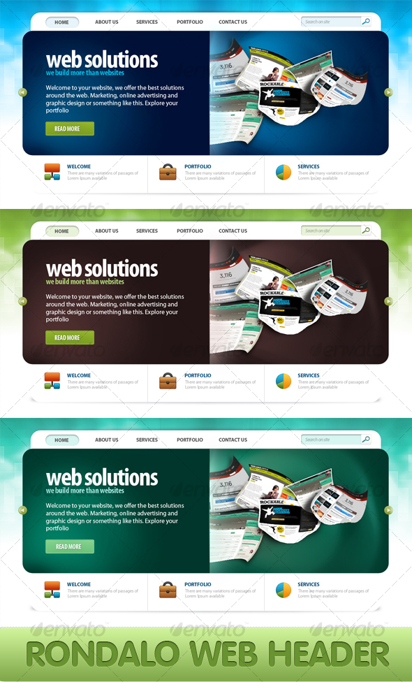 Rondalo Header - Web Elements