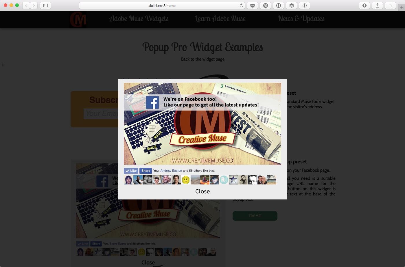 Popup pro widget for adobe muse by creativemuse codecanyon screenshotsfacebook like grabeg baditri Choice Image