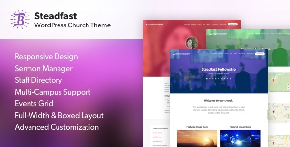Steadfast – Responsive WordPress Church Theme