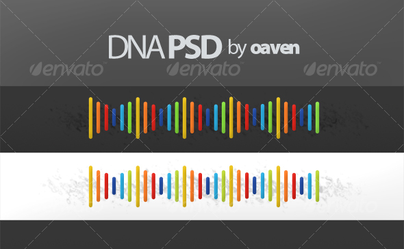 DNA Graphic (PSD) - Miscellaneous Illustrations