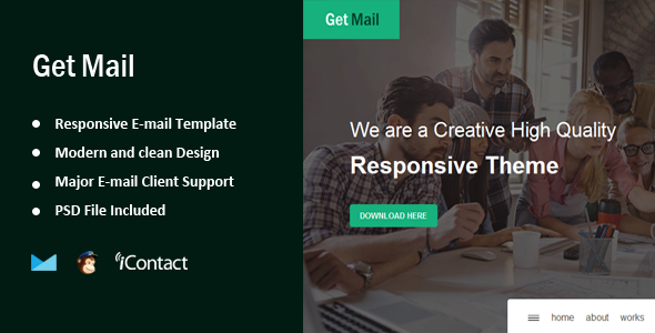 Get Mail – Responsive E-mail Template