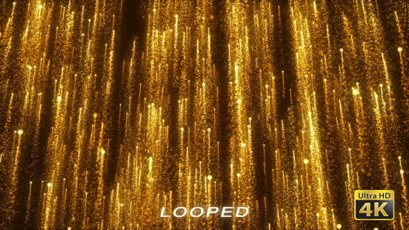 Gold Particles Rising Background